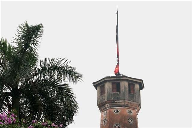 Nghi thức treo cờ rủ Lễ Quốc tang Đại tướng Lê Đức Anh - 12