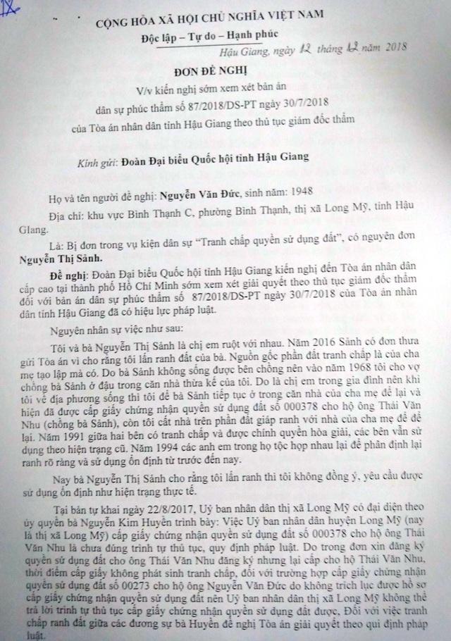 """Bị người dân """"tố"""" can thiệp vào việc thi hành án, Phó đoàn ĐBQH tỉnh Hậu Giang nói gì? - 2"""