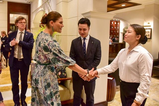Công chúa Thụy Điển thăm căn hầm trú bom dưới khách sạn 5 sao ở Hà Nội - 2
