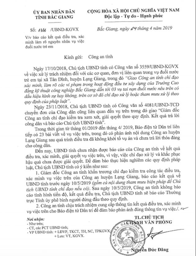 3 cháu bé chết oan vẫn không khởi tố, Chủ tịch tỉnh Bắc Giang lần thứ 3 phải yêu cầu gì? - 1