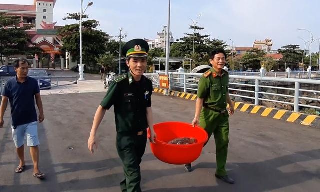 Một người dân mua 2 cá thể rùa biển quý hiếm thả về môi trường tự nhiên - 2