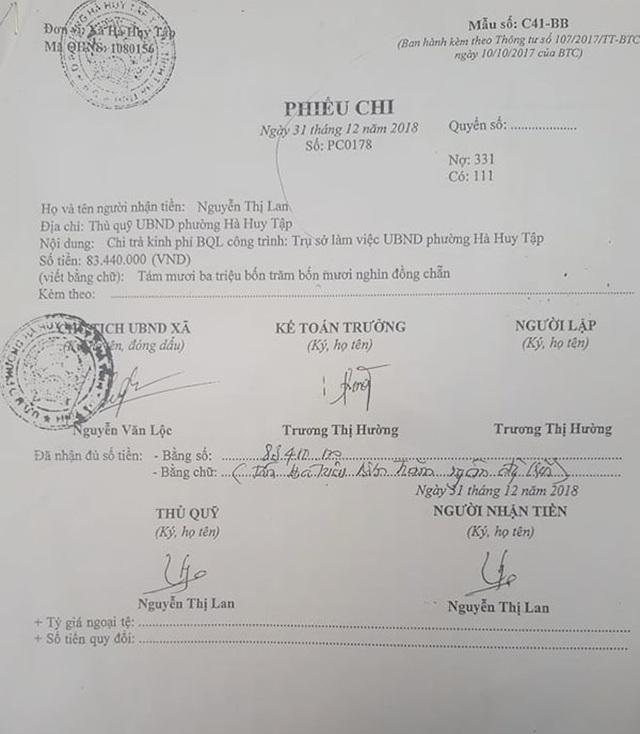 Bất thường hồ sơ nhận tiền quản lý dự án của cán bộ phường tại Hà Tĩnh - 2