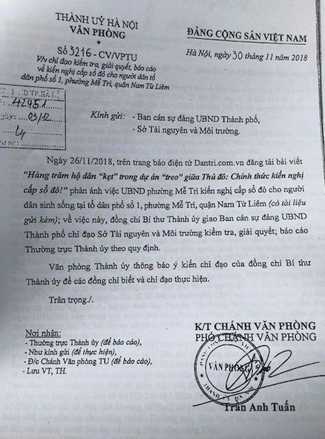 Bí thư thành uỷ Hà Nội chỉ đạo giải quyết kiến nghị của dân, Sở QHKT báo cáo gì? - 1