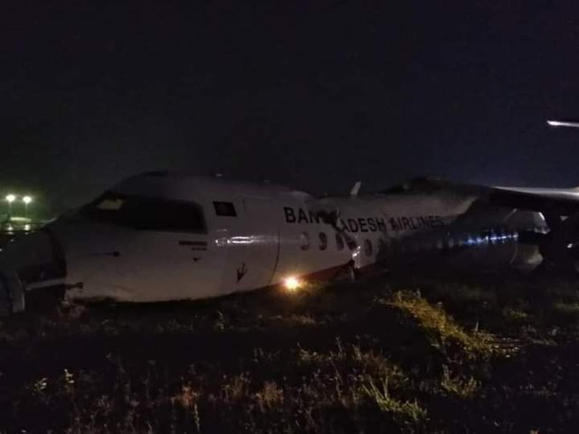 Máy bay chở khách trượt khỏi đường băng, vỡ làm 3 ở Myanmar - 4