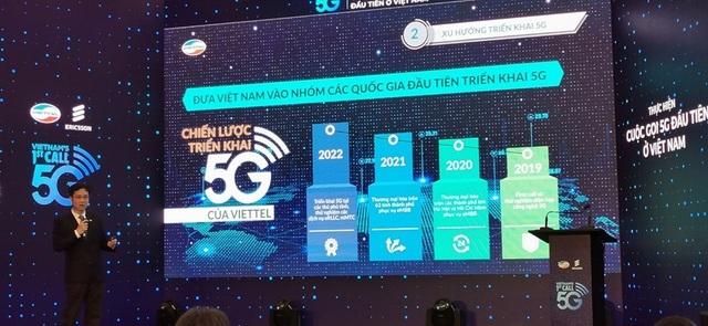Viettel thực hiện cuộc gọi 5G đầu tiên tại Việt Nam, thương mại hoá từ năm 2020 - 2