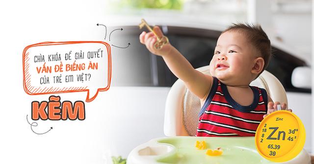 Bổ sung kẽm cho trẻ giải quyết vấn đề biếng ăn - Vai trò của kẽm