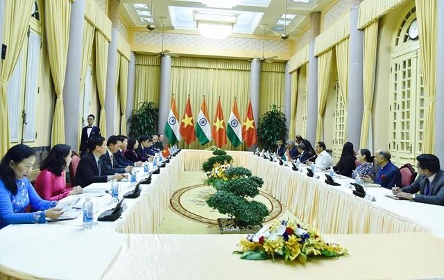Phó Chủ tịch nước Đặng Thị Ngọc Thịnh chủ trì lễ đón Phó Tổng thống Ấn Độ - 7