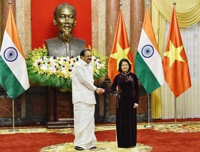 Phó Chủ tịch nước Đặng Thị Ngọc Thịnh chủ trì lễ đón Phó Tổng thống Ấn Độ - 6