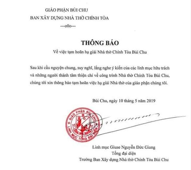 Hoãn hạ giải thánh đường 134 tuổi Bùi Chu - 1