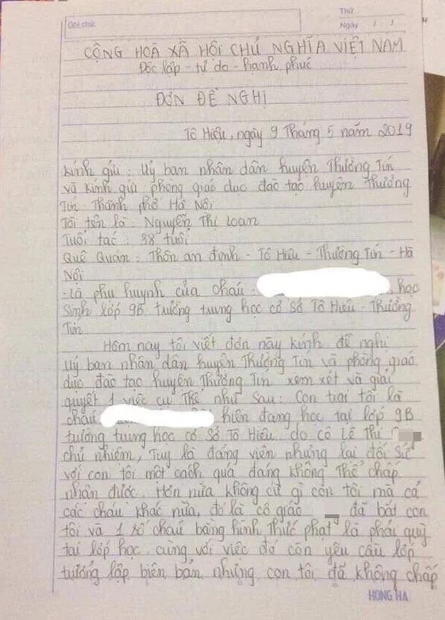 Tranh cãi hình ảnh nam sinh lớp 9 bị cô giáo bắt quỳ gối ngay trong lớp học - 2