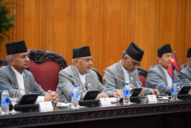 Thủ tướng Nguyễn Xuân Phúc đón người đồng cấp Nepal thăm chính thức Việt Nam - 7