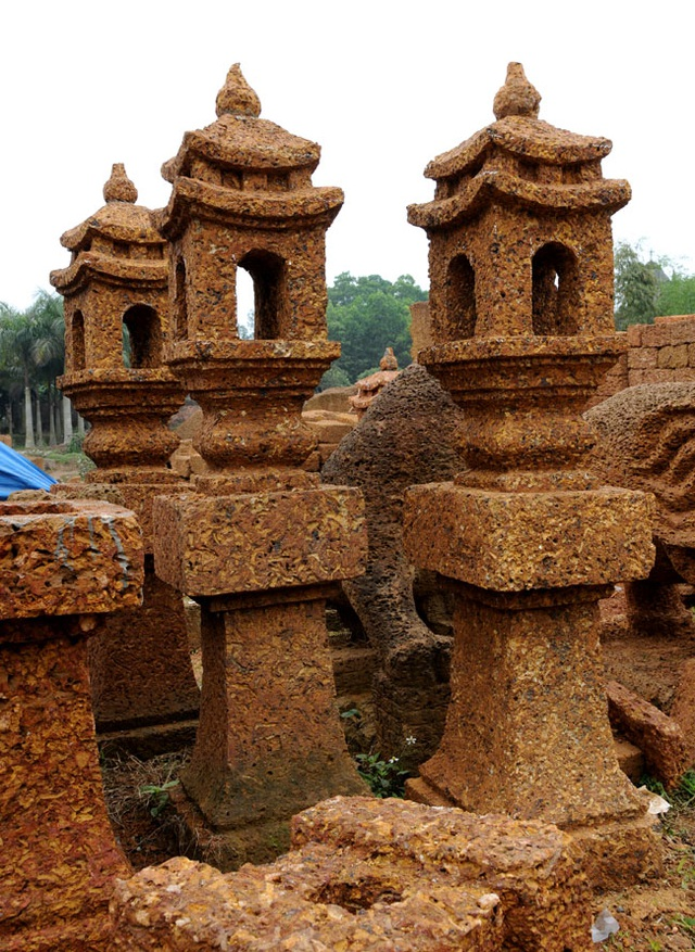 Kỳ công nghề đá ong ở Bình Yên - 7