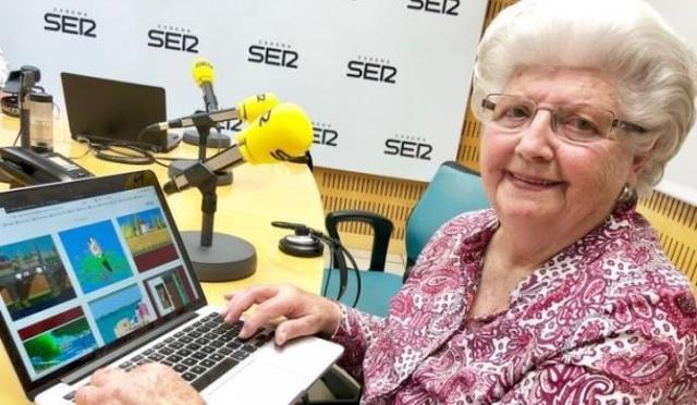 """Cụ bà 88 tuổi gây """"sốt"""" cộng đồng mạng nhờ tài vẽ tranh bằng…. Microsoft's Paint! - 1"""