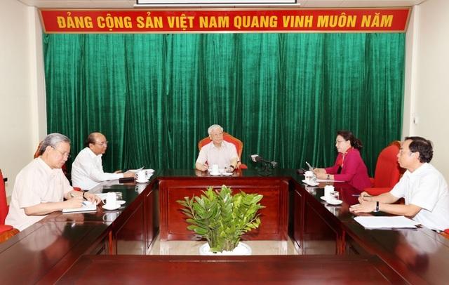 Tổng Bí thư, Chủ tịch nước Nguyễn Phú Trọng chủ trì họp lãnh đạo chủ chốt - 2