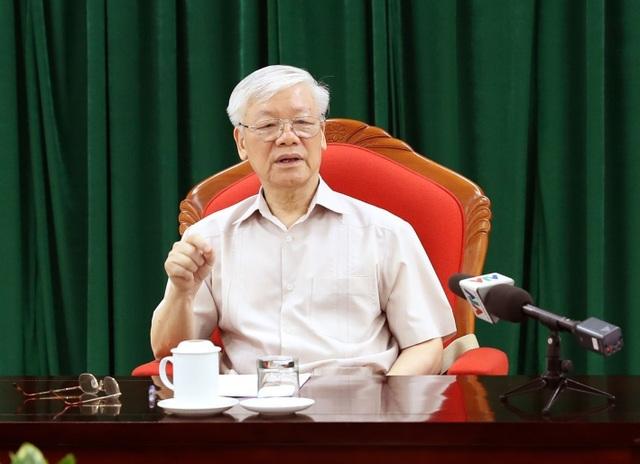 Tổng Bí thư, Chủ tịch nước Nguyễn Phú Trọng chủ trì họp lãnh đạo chủ chốt - 1