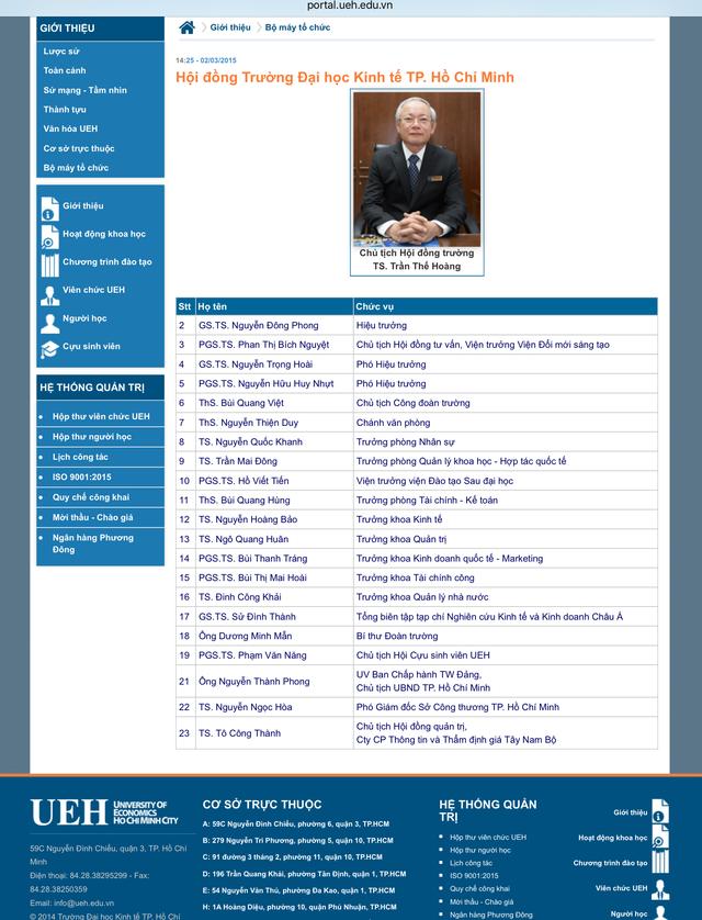Trường ĐH Kinh tế TPHCM xóa tên ông Tề Trí Dũng khỏi Hội đồng trường - 1