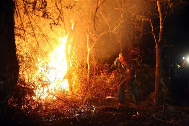 Cháy rừng, nhiều nhà dân sơ tán, hàng trăm người dập lửa trong đêm - 4