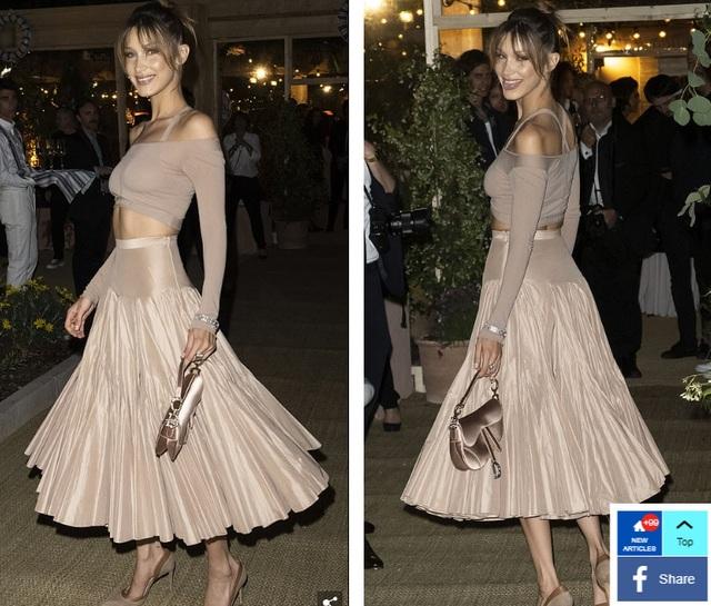 Bella Hadid lộ eo thon quyến rũ tại Cannes - 4