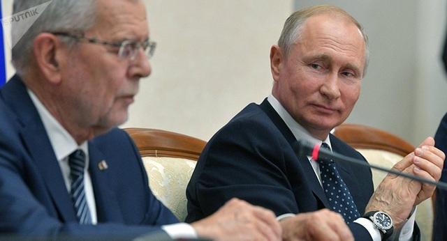 Ông Putin thể hiện khả năng nói tiếng Đức với Tổng thống Áo - 1