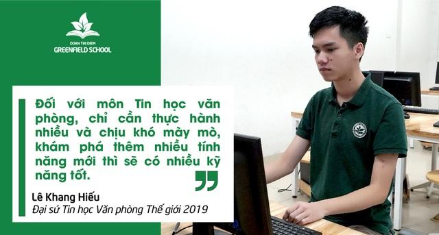Từ cậu học sinh nhút nhát trở thành Đại sứ Tin học văn phòng thế giới 2019 - 3