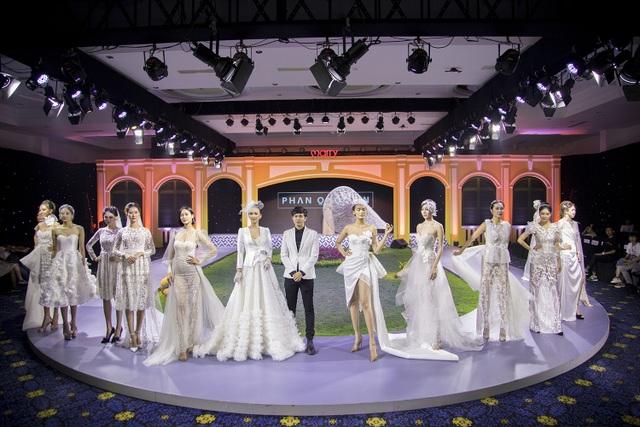 Hoa hậu Paris Vũ diện đầm trắng tinh khiết làm vedette ở show thời trang cưới - 7