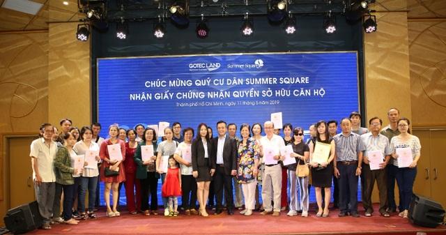 Gotec Land  trao Giấy chứng nhận quyền sở hữu căn hộ cho cư dân Summer Square đợt 2 - 3