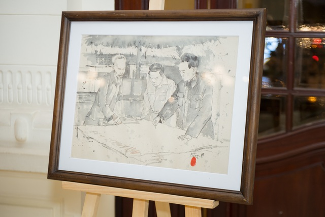 Trưng bày 38 bức vẽ Bác Hồ của nhiều hoạ sĩ nổi tiếng - 5