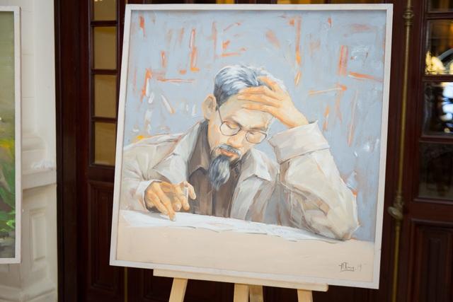 Trưng bày 38 bức vẽ Bác Hồ của nhiều hoạ sĩ nổi tiếng - 7