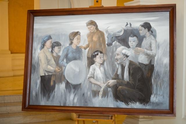 Trưng bày 38 bức vẽ Bác Hồ của nhiều hoạ sĩ nổi tiếng - 6