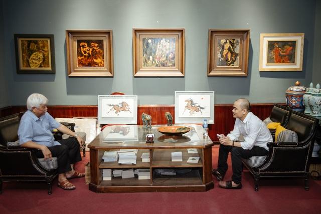 Trưng bày 38 bức vẽ Bác Hồ của nhiều hoạ sĩ nổi tiếng - 1