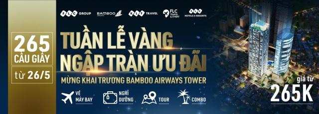 """""""Đại tiệc"""" ưu đãi trị giá hàng chục tỷ đồng nhân dịp Khai trương Bamboo Airways Tower 265 Cầu Giấy - 1"""