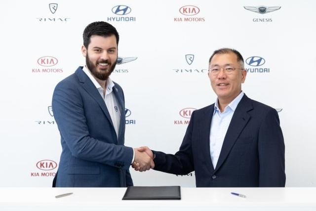 Hyundai bắt tay chiến lược với một hãng siêu xe chạy điện - 1