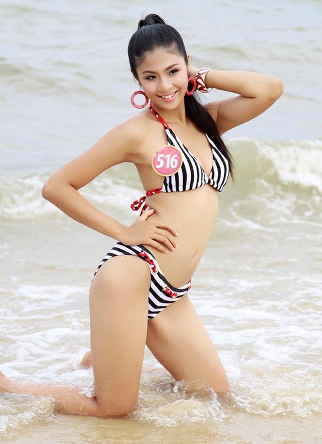 Hoa hậu Ngọc Hân bất ngờ mặc áo tắm khoe body sau nhiều năm đăng quang - 5