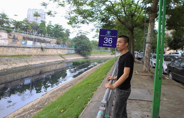 Cận cảnh đoạn sông Tô Lịch sau 3 ngày dùng công nghệ Nhật - 7