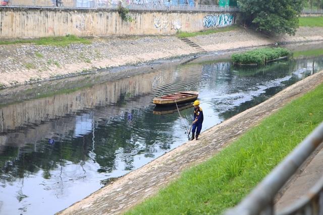 Cận cảnh đoạn sông Tô Lịch sau 3 ngày dùng công nghệ Nhật - 4