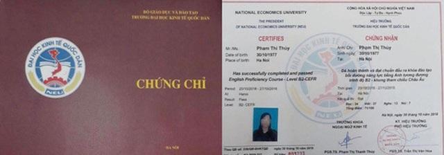 Trường ĐH Kinh tế Quốc dân cấp chứng chỉ ngoại ngữ trái phép - 1