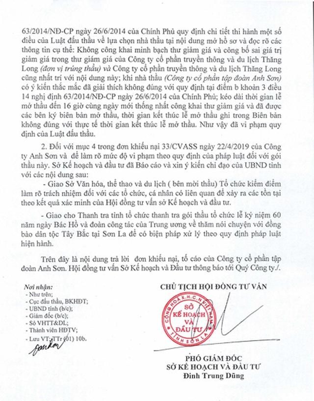 Vụ nữ tổng giám đốc quyết tố thông thầu tại Sơn La: Sở VHTTDL lộ mặt bao che? - 6