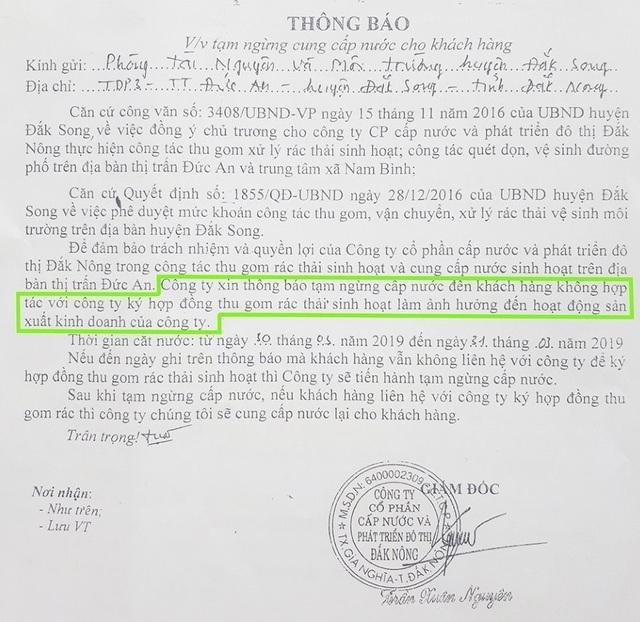 """Đắk Nông: Không ký tiếp hợp đồng thu gom rác, người dân bị """"phạt"""" cắt luôn nước sạch! - 2"""