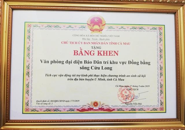 Chủ tịch tỉnh Cà Mau tặng bằng khen Văn phòng đại diện và phóng viên báo Dân trí tại ĐBSCL - 2