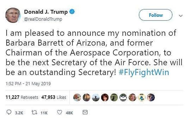 Mỹ sắp có nữ Bộ trưởng Không quân mới - 1