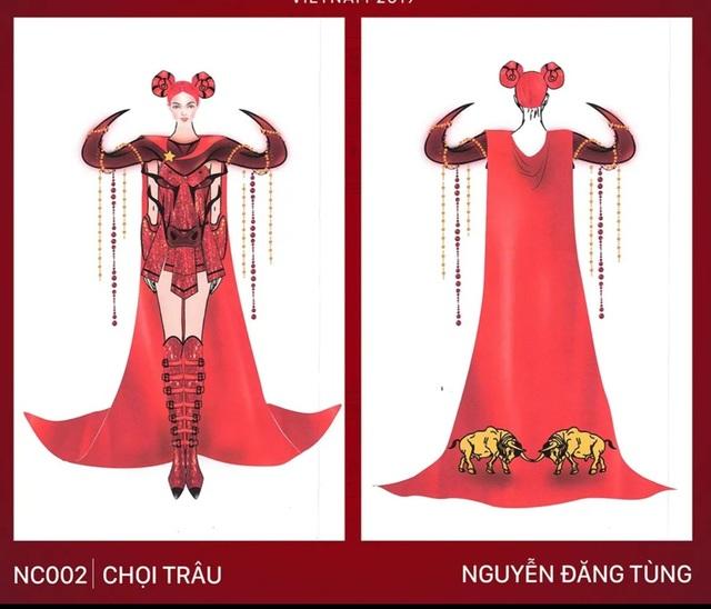 Xích lô, chọi trâu… được thiết kế cho Hoàng Thùy để mang đến Miss Universe 2019? - 3