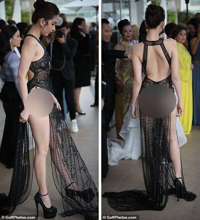 """Công chúng phương Tây cũng ý kiến về màn """"hở bạo"""" của Ngọc Trinh tại Cannes - 1"""