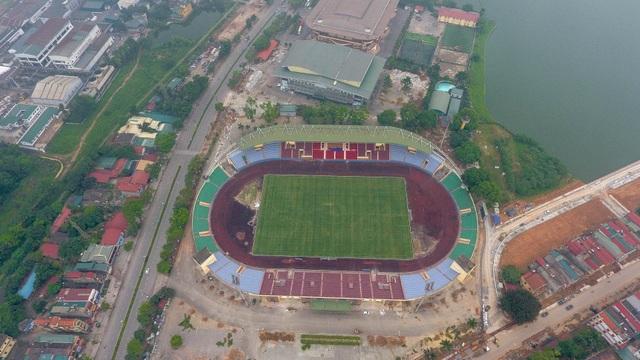 Toàn cảnh SVĐ ở Phú Thọ tổ chức trận giao hữu U23 Việt Nam - U23 Myanmar - 1