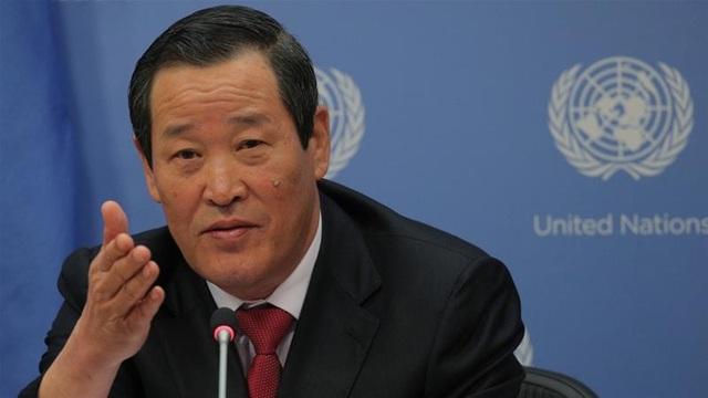 Triều Tiên họp báo bất thường ở LHQ, đòi Mỹ trả tàu ngay lập tức - 1