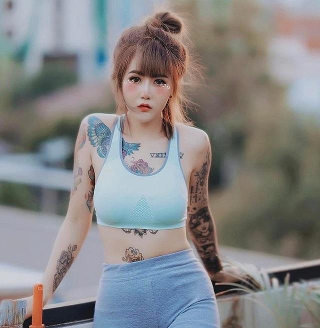 3 kiều nữ xăm Thái Lan: Mặt xinh như búp bê, da dính mực vẫn đẹp nuột nà - 14