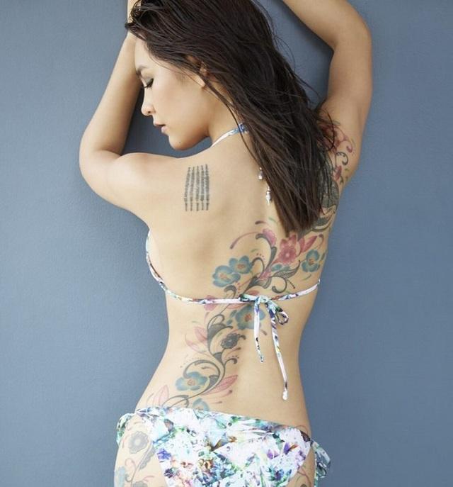 3 kiều nữ xăm Thái Lan: Mặt xinh như búp bê, da dính mực vẫn đẹp nuột nà - 17