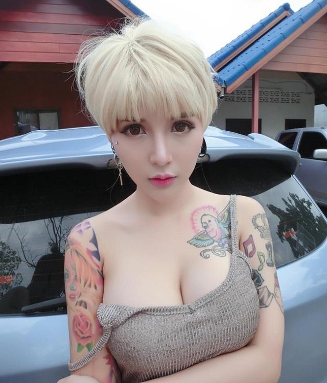 3 kiều nữ xăm Thái Lan: Mặt xinh như búp bê, da dính mực vẫn đẹp nuột nà - 9