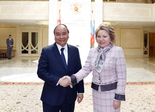 Thủ tướng Nguyễn Xuân Phúc hội kiến Chủ tịch Duma và Chủ tịch Hội đồng Liên bang Nga - 2