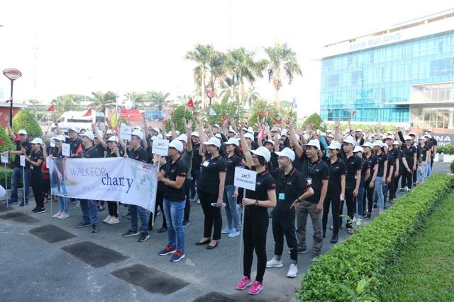 """""""Đi bộ từ thiện"""" - Bước chân vì cộng đồng của Swiss Post Solutions Vietnam - 1"""