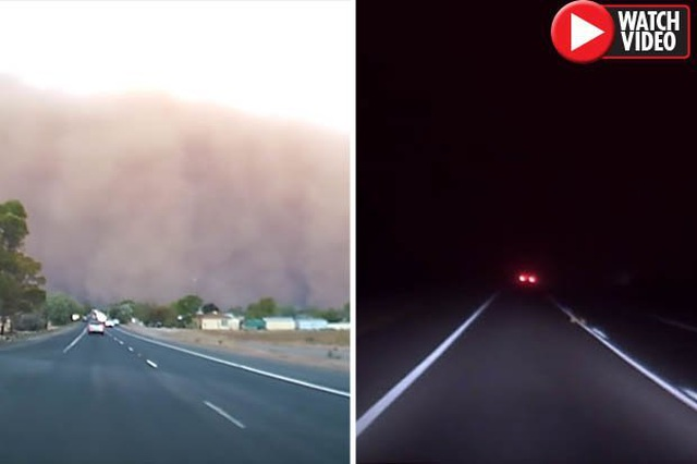 Video: Cảnh tượng ngày biến thành đêm như tận thế ở Úc - 1